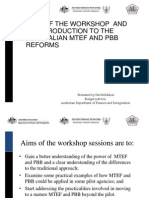 An Introduction to the Australian  Mid-Term Expenditure Framework (MTEF) and Performance Based Budgeting (PBB) REFORMS