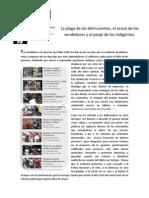 La Plaga de la Delincuencia, Vendedores e Indigentes en Vías Publicas