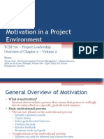 TCM 710 - Volume 2 Chapter 2 Motivation in a Project Environment
