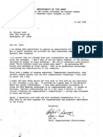 1982 06 08 Dept Army Letter