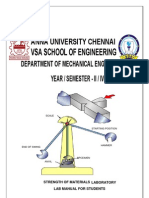 STRENGTH OF MATERIALS LAB MANUAL- MECHANICAL