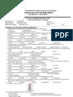 Soal UAS Geografi MAIbra KlXI 12-13
