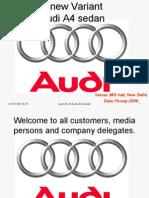 Audi New Car Launch