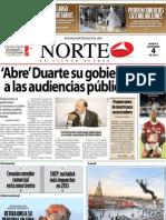Periodico Norte de Ciudad Juárez 4 de Diciembre de 2012
