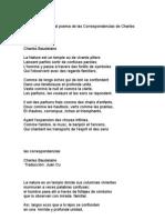 Juan Cu TRADUCCIÓN  AL POEMA DE LAS CORRESPONDENCIAS DE BAUDELAIRE