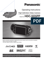 Panasonic HDC-SD5 User Guide
