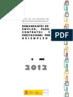 Datos Paro Registrado Noviembre 2012