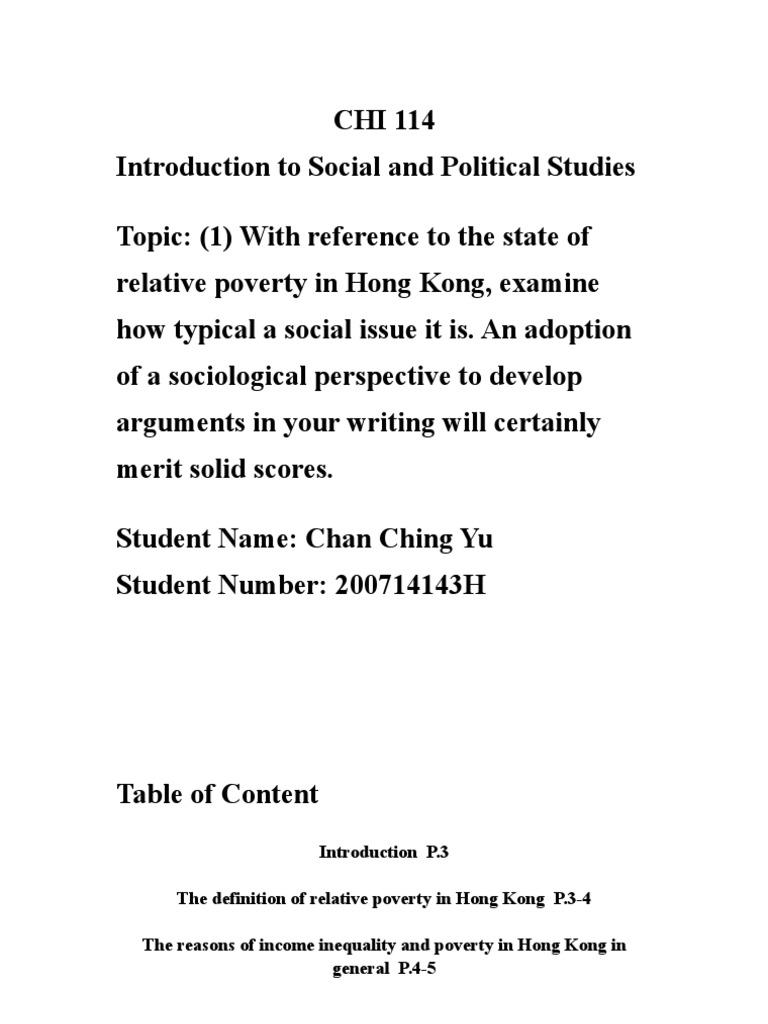 relative poverty in hk   poverty threshold   economic inequality