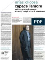 Intervista a Javier Marías - L'Unita 04.12.2012