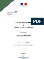 Rapport de Pascal Faure sur l'avenir du site de Florange et de la filère acier en France