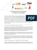 Joint Position Paper of Civil Society Organizations on the Global Fund New Funding Model
