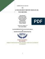 Industry Analysis on Heavy Motor Vehicles on Tata Motors