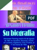Presentación sobre Alexander Fleming.