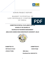 Minor Project Report on Life Insurance Corporation of India