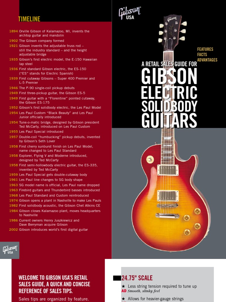 Gibson Retail Guide Guitars Guitar Family Instruments Cavity Trussrod Model