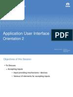 Application UI AcceptingInputs