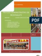 Proceso Administrativo de Mcdonald