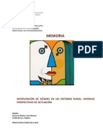 INTERVENCIÓN  DE  GÉNERO  EN  UN  ENTORNO  RURAL