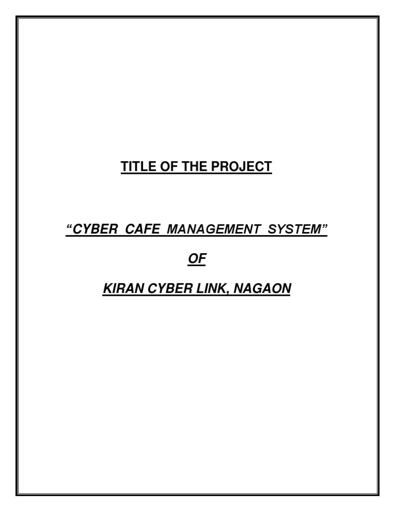 Synopsis on cyber cafe management data model unit testing ccuart Images