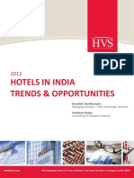 HVS - 2012 Hotels in India Trends Opportunities