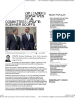 Boehner, GOP Leaders Purge Conservatives From Powerful Committe