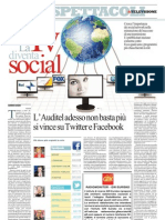 La Repubblica - La TV diventa social