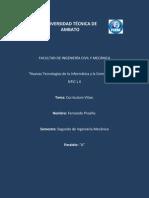 Curriculum Vitae-Fernando Proaño