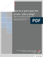 Que Es y Para Que Me Sirve Wiki y Blog