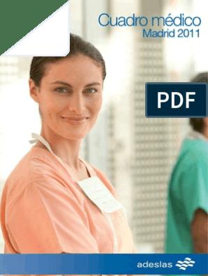 Adeslas Cuadro Medico Enfermería Radiología
