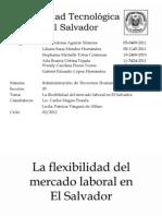 Flexibilidad en El Mercado Laboral en El Salvador (Editado)