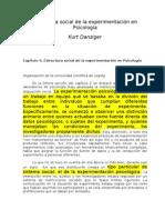 Danziger, K. (1990). Estructura social de la experimentación en Psicología