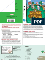 DS Animal Crossing Wild World Manual
