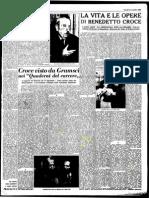 Croce sul giornale L'Unità