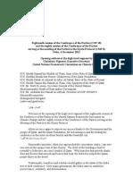 Intervenção de Christiana Figueres no Segmento de alto nível da COP18