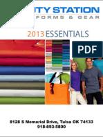 2013 Product Catalog - Duty Station Uniforms & Gear