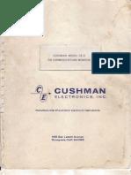 Cushman Model CE-3 FM Communication Monitor Manual, 1968.