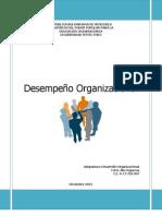 Elementos esenciales en Desempeño Organizacional