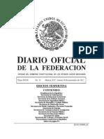 Diario Oficial de la Federación/Edición vespertina