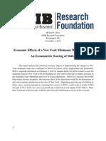 NFIB-NY Minimum Wage Study - 2012