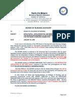 PRC BoN Advisory on or DR Cases