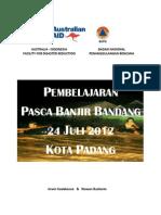 Pembelajaran Pasca Banjir Bandang 24 Juli 2012 Kota Padang