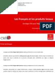 CSA Pour Region Midi-Pyrenees - Les Francais Et Les Produits Locaux Presentation