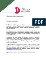 Carta de presentació enregistrament J.J.Beumala
