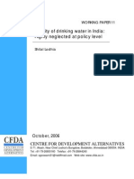 QQuality of Drinking Water in India