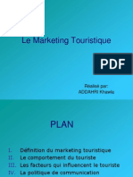 Le Marketing Touristique