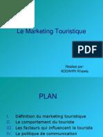 Le Marketing Touristique