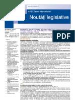 APEX Team Noutati Legislative 11 2012