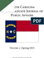 North Carolina Undergraduate Journal of Public Affairs PDF