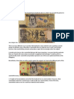 Detect Fake 500 Peso Bills