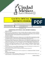 INFORME DEL PROCESO DE TRANSICIÓN DE LA ADMINISTRACIÓN PÚBLICA DEL DISTRITO FEDERAL 2012
